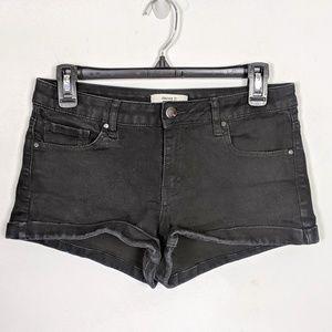 Forever 21 Jet Black Jean Shorts